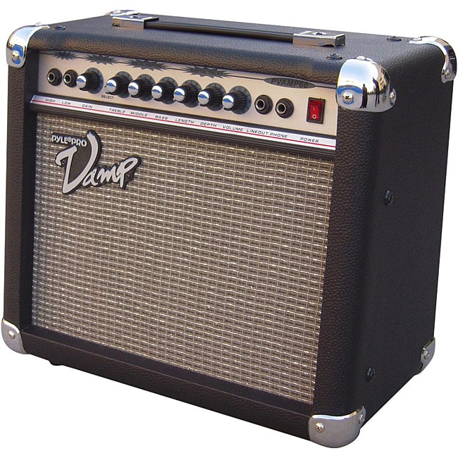 Pyle 60 Watt Vamp-Series Amplifier With 3-Band EQ, Overdr...