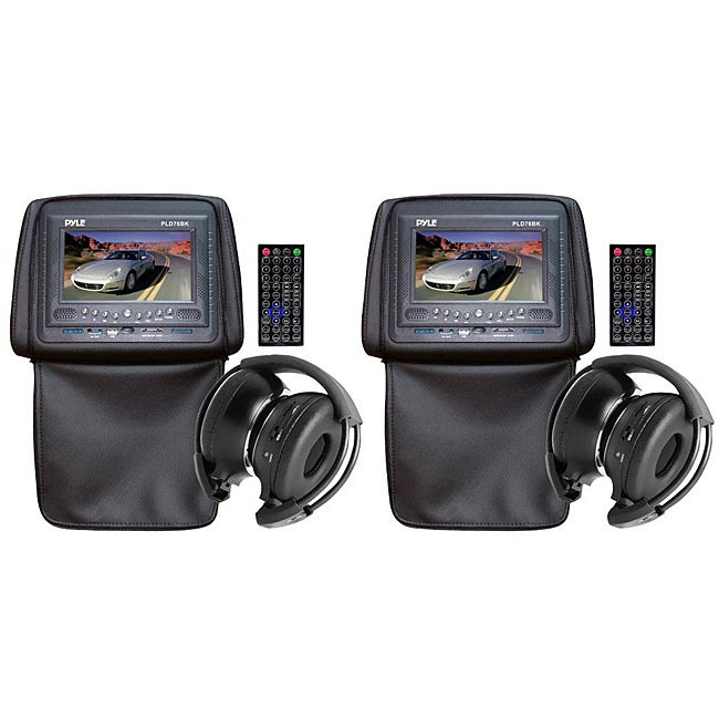 Pyle Headrests with 7-inch Monitor/ DVD Player