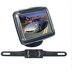 Pyle 3.5-inch Slim LCD Universal Mount Monitor with License Plate Mount Rearview Night Vision Backup Camera (Refurbished)