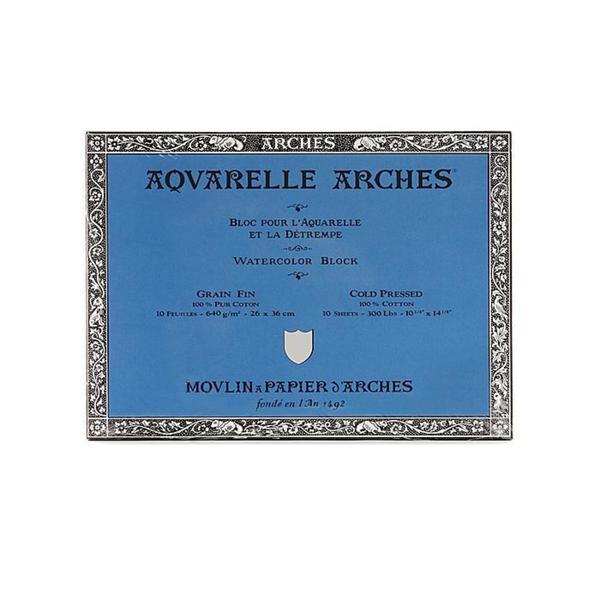 Arches 10-inch x 14-inch Cold Press Watercolor Block