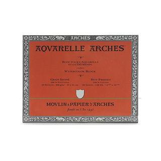 Arches 12-inch x 16-inch Hot Press Watercolor Block