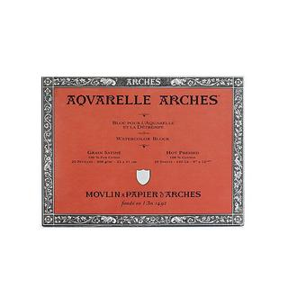 Arches 9-inch x 12-inch Hot Press Watercolor Block