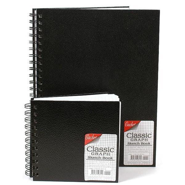 Cachet 9-inch x 12-inch Classic Graph Sketch Book