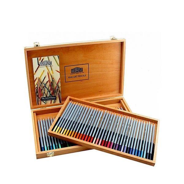 Derwent Watercolor Pencils with Hardwood Box (Set of 72)