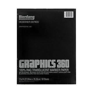 Bienfang 11-inch x 14-inch Graphics 360 Marker Paper (50 Sheets)