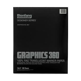 Bienfang 14-inch x 17-inch Graphics 360 Marker Paper (100 Sheets)