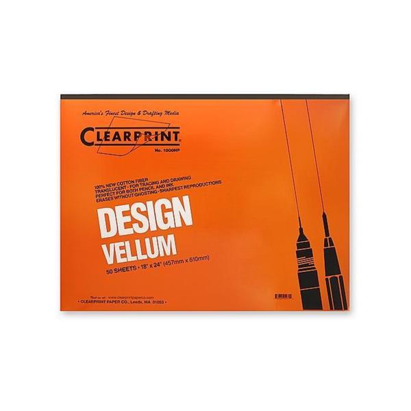 Clearprint 18-inch x 24-inch Design Vellum 1000HP (Pack of 50)