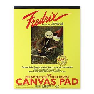 Fredrix 16-inch x 20-inch Canvas Pad