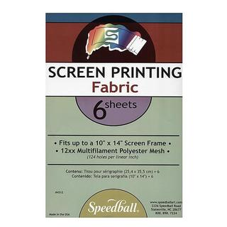 Speedball Multifilament Polyester Screen Fabric (Pack of 6)