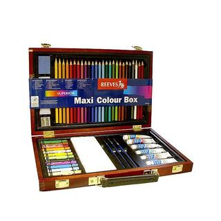 Reeves Maxi Colour Wood Box Art Set - multi