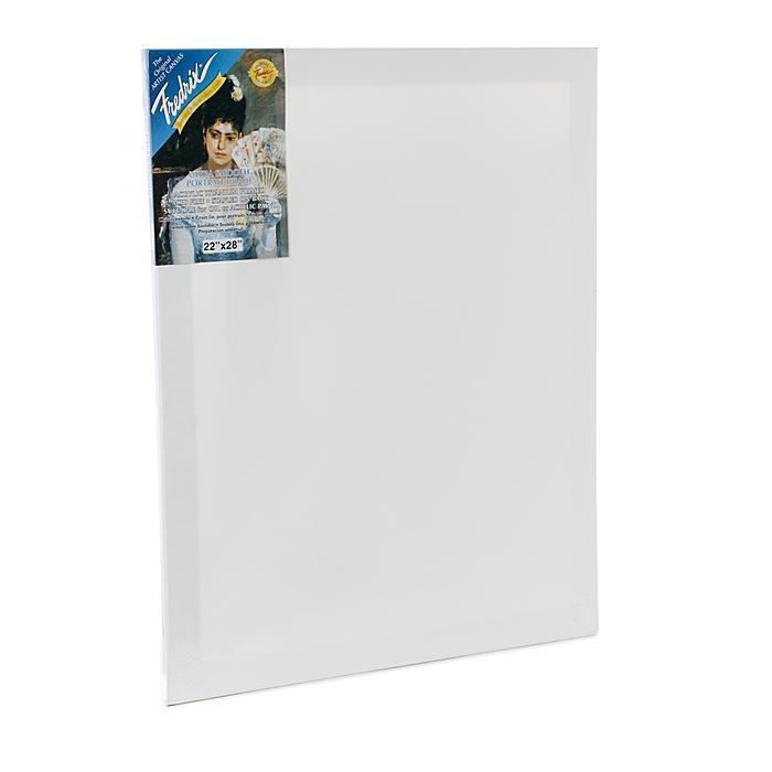 Fredrix 22-inch x 28-inch Blue Label Pre-stretched Blank ...