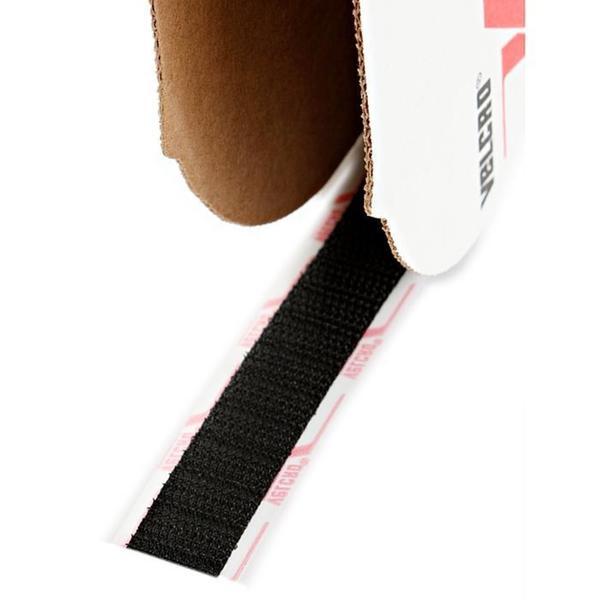 Hook and Loop Black 0.625-inch x 25-yard Wide Hook Closure Tape Roll