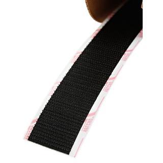 Hook and Loop Black 1-inch x 25-yard Wide Hook Closure Tape