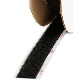 Hook and Loop Black 0.625-inch x 25-yard Wide Loop Closure Tape