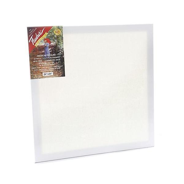 Fredrix 24-inch x 24-inch Red Label Pre-stretched Blank Canvas