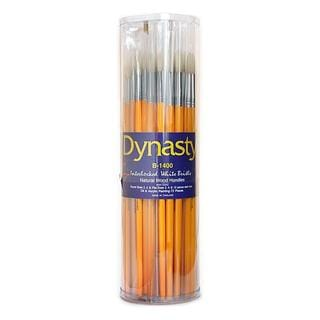 Dynasty Interlocked White Bristle B-1400 Brushes (Canister of 72)