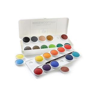 Grumbacher Deluxe Transparent Watercolor Pans (Set of 24)