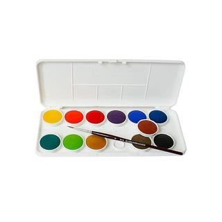 Grumbacher Deluxe Transparent Watercolor Pans (Set of 12)