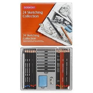 Derwent Sketching Pencils Collection (Tin of 24)|https://ak1.ostkcdn.com/images/products/6155314/P13813328.jpg?impolicy=medium