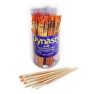 Dynasty Golden Synthetic B-400 Brushes (Canister of 144)