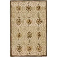 Safavieh Handmade New Zealand Wool Sonate Beige Rug - 3'6 x 5'6