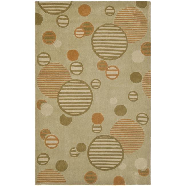 Safavieh Handmade Modern Art Galaxy Sage/ Multicolored Polyester Rug (8' x 10')