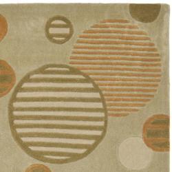 Safavieh Handmade Modern Art Galaxy Sage/ Multicolored Polyester Rug (8' x 10') - Thumbnail 1