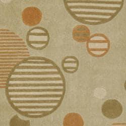Safavieh Handmade Modern Art Galaxy Sage/ Multicolored Polyester Rug (8' x 10') - Thumbnail 2