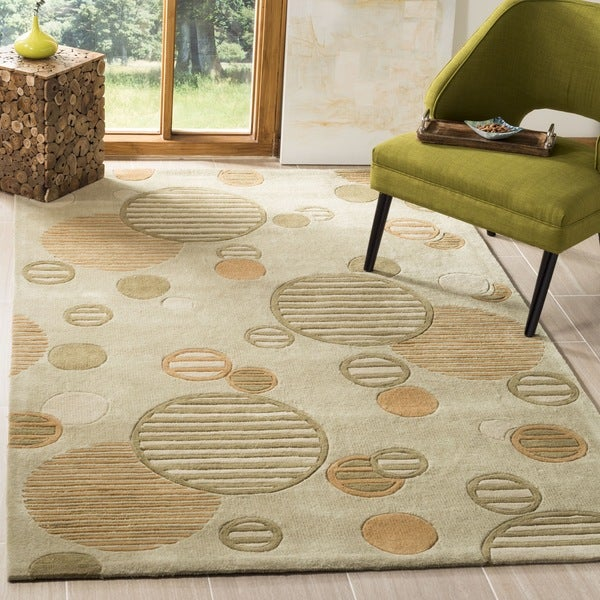 Safavieh Handmade Modern Art Galaxy Sage/ Multicolored Polyester Rug - 8' x 10'