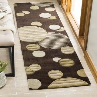 Safavieh Handmade Modern Art Galaxy Brown/ Multicolored Polyester Rug (2'3 x 8')