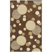 Safavieh Handmade Modern Art Galaxy Brown/ Multicolored Polyester Rug - 5' x 8'