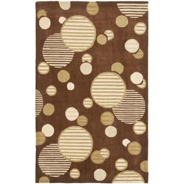 Safavieh Handmade Modern Art Galaxy Brown/ Multicolored Polyester Rug - 8' x 10'