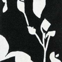 Safavieh Handmade Modern Art Midnight Black/ Ivory Polyester Rug (2'3 x 8') - Thumbnail 2