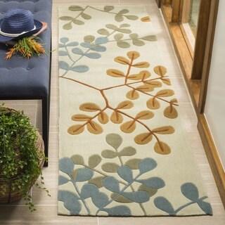 Safavieh Handmade Modern Art Serenity Ivory/ Multicolored Polyester Rug (2'3 x 8')