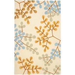 Safavieh Handmade Modern Art Serenity Ivory/ Multicolored Polyester Rug (5' x 8')