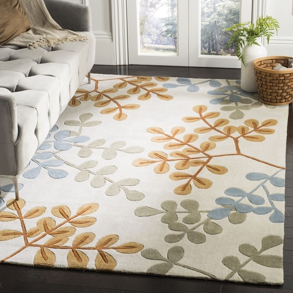 Safavieh Handmade Modern Art Serenity Ivory/ Multicolored Polyester Rug 8'X10' - 8' x 10'