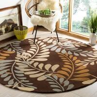 Safavieh Handmade Modern Art Ferns Brown/ Multicolored Polyester Rug - 2'3 x 8'