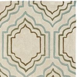 Safavieh Handmade Modern Art Moroccan Beige/ Multicolored Polyester Rug (4' x 6') - Thumbnail 1