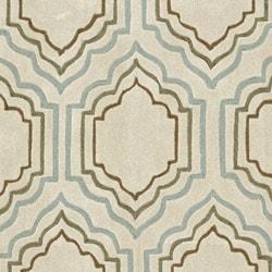 Safavieh Handmade Modern Art Moroccan Beige/ Multicolored Polyester Rug (4' x 6') - Thumbnail 2