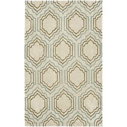 Safavieh Handmade Modern Art Moroccan Beige/ Multicolored Polyester Rug (4' x 6')