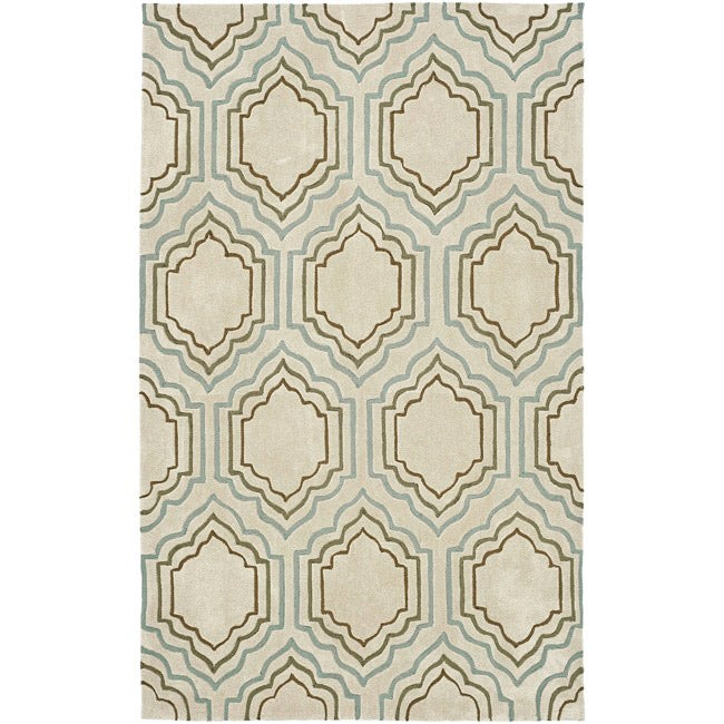 Safavieh Handmade Modern Art Moroccan Beige/ Multicolored Polyester Rug (5' x 8')