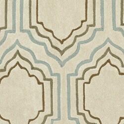 Safavieh Handmade Modern Art Moroccan Beige/ Multicolored Polyester Rug (7' Round) - Thumbnail 2