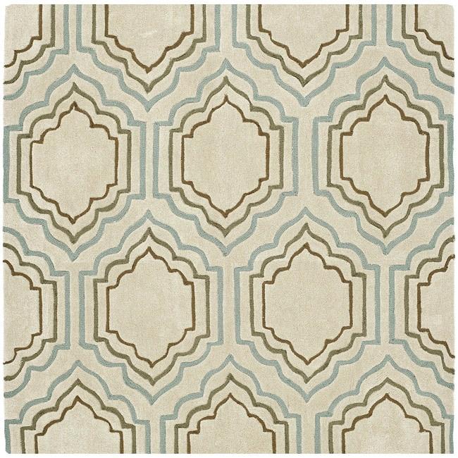 Safavieh Handmade Modern Art Moroccan Beige/ Multicolored Polyester Rug (7' Square)