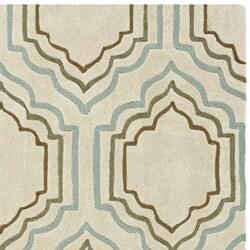 Safavieh Handmade Modern Art Moroccan Beige/ Multicolored Polyester Rug (7' Square) - Thumbnail 1