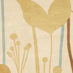 Safavieh Handmade New Zealand Wool Gardens Beige Rug (7'6 x 9'6) - Thumbnail 2