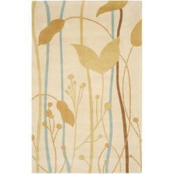 Safavieh Handmade New Zealand Wool Gardens Beige Rug - 7'6 x 9'6 - Thumbnail 0