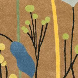 Safavieh Handmade New Zealand Wool Gardens Brown Rug (3'6 x 5'6') - Thumbnail 2