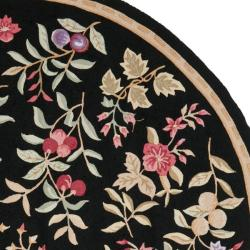Safavieh Simply Clean Botanical Hand-hooked Black Rug (8' Round)
