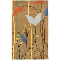 Safavieh Handmade New Zealand Wool Gardens Brown Rug (7'6 x 9'6)