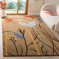 Safavieh Handmade New Zealand Wool Gardens Brown Rug - 7'6 x 9'6